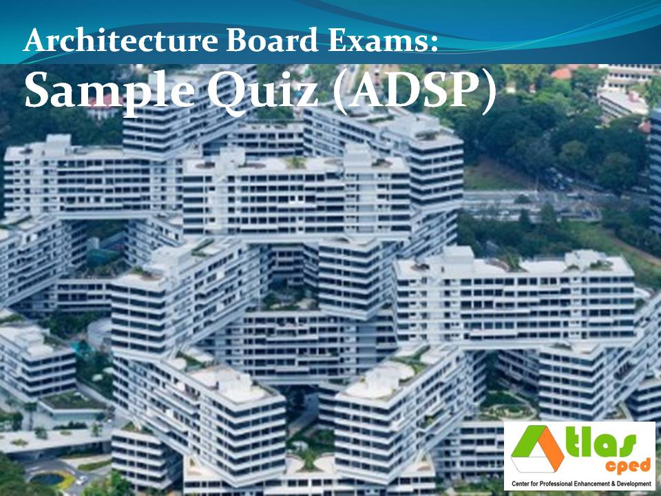 Lovely Here Is A Sample Quiz On Architectural Design And Site Planning (ADSP)  Pertaining To Rules 7 U0026 8 Of The Revised Implementing Rules And Regulations  (RIRR) Of ...