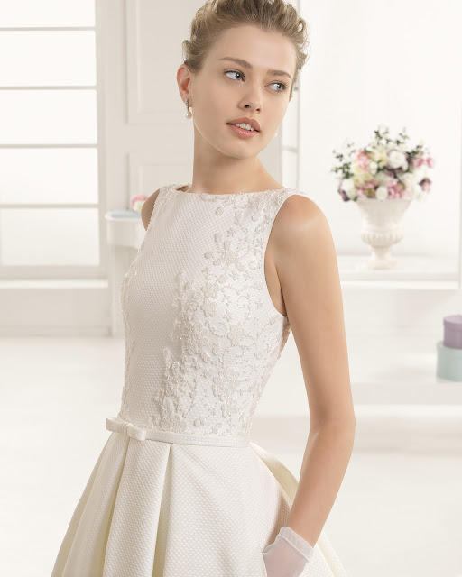 guia tipos de telas de vestidos de novia - blog mi boda - tela pique - rosa clara 2016