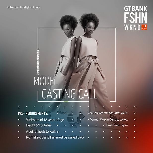 GTBank fashion weekend model casting call - LindaIkeji Blog