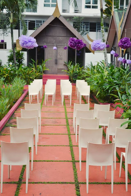outdoor wedding thai style