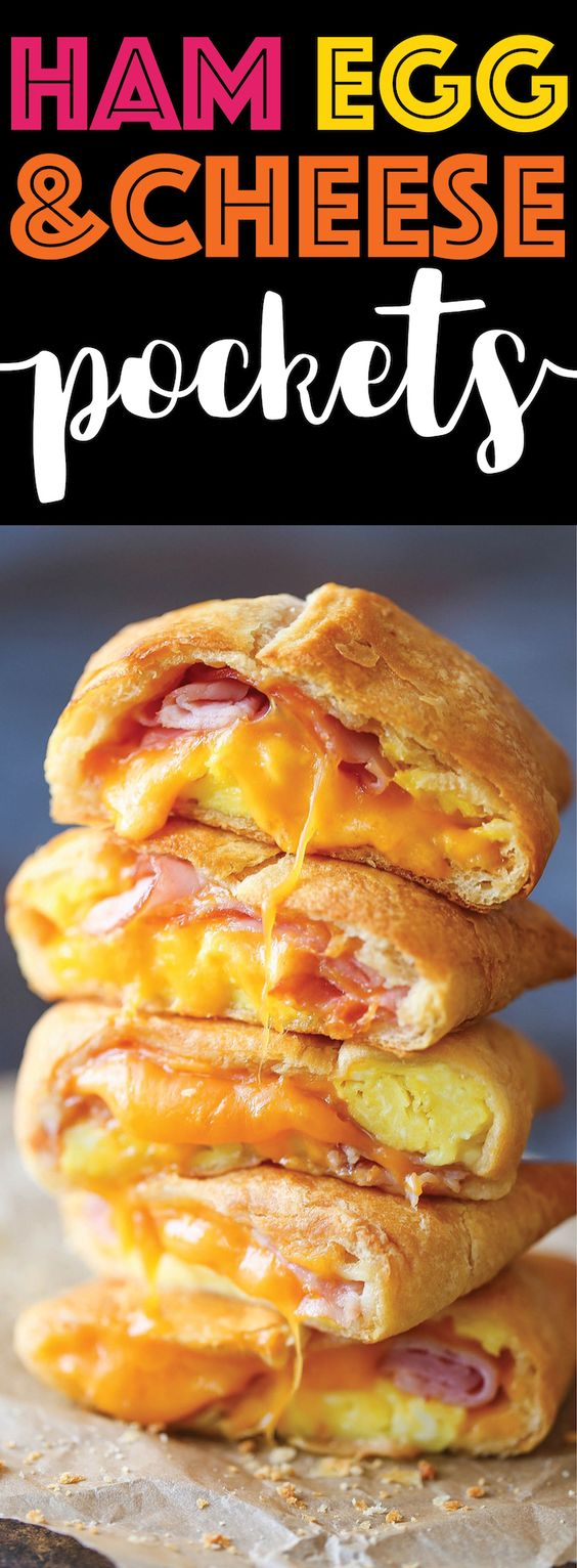 Ham Eggs and Cheese Pockest