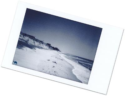 Polaroid Plage Patchogue - Long Island - Le Chameau Bleu