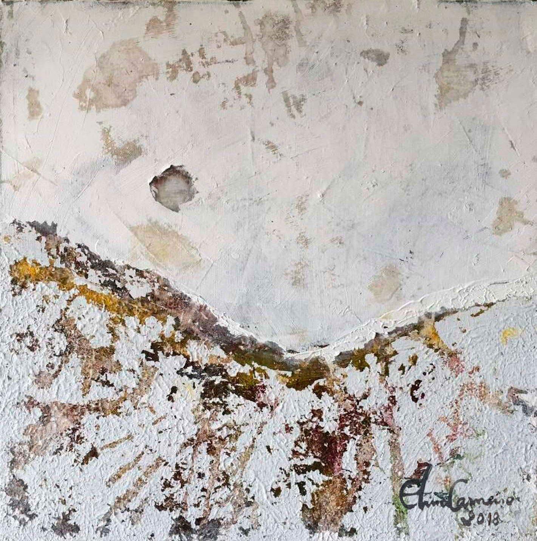 Arte de Elma Carneiro-texturas em gesso,tinta acrílica