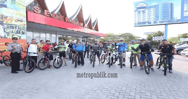 Kapolda Sumut Melaksanakan Orientasi Wilayah Dengan Bersepeda