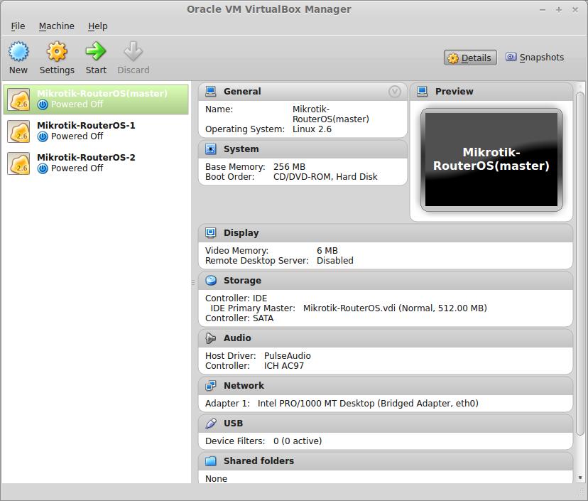 My Home Lab: Installing Mikrotik RouterOS under VirtualBox