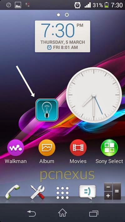 tiny flashlight widget android