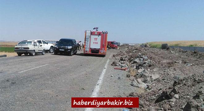 Diyarbakır Bismil Karayolunda patlama: Yaralılar var