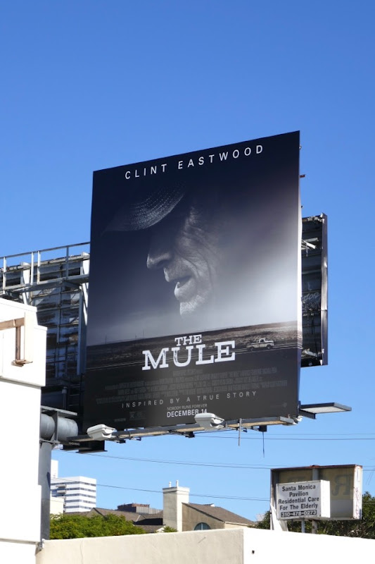 The Mule film billboard
