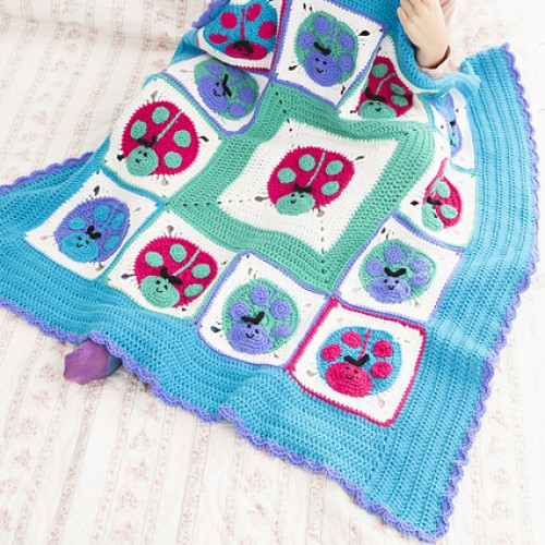 Lucky Ladybug Throw - Free Pattern