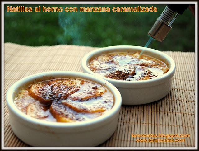 Natillas al horno con manzana caramelizada, receta de la abuela 04