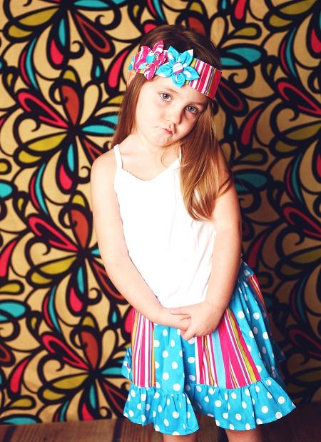 Sewing Patterns for Girls Dresses and Skirts: Panelled Skirt with ...