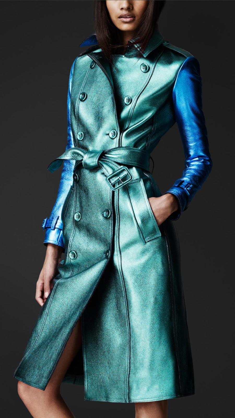 Burberry Prorsum Runway London Fashion Week Aw14: A.k.a. Oniomania: In My Dreams...Burberry Prorsum Metallic