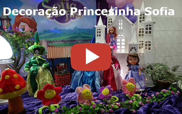 Vídeo decoração de aniversário Princesa Sofia