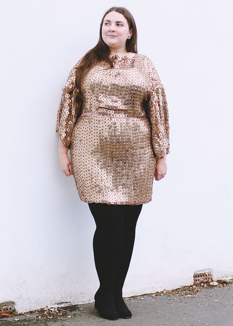 plus size gold dress