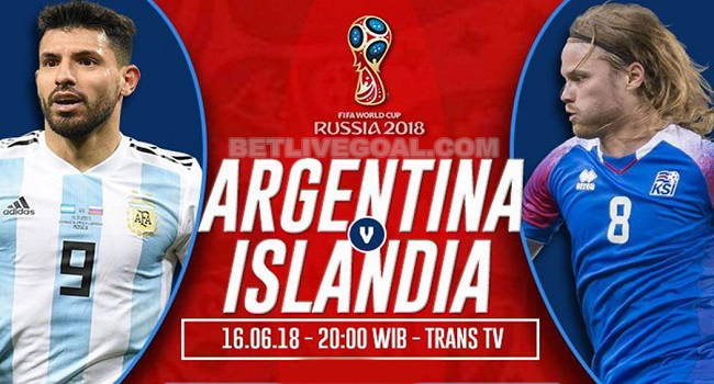 live streaming argentina vs islandia 16 juni 2018