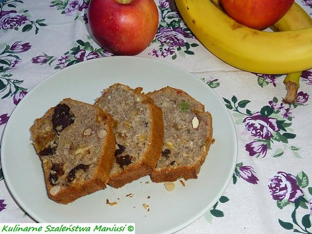 Chlebek bananowo-bakaliowy