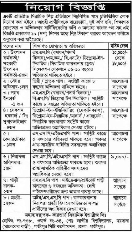 Fakir Apparels Job Circular Bangladesh 2018 - Weekly Chakrir