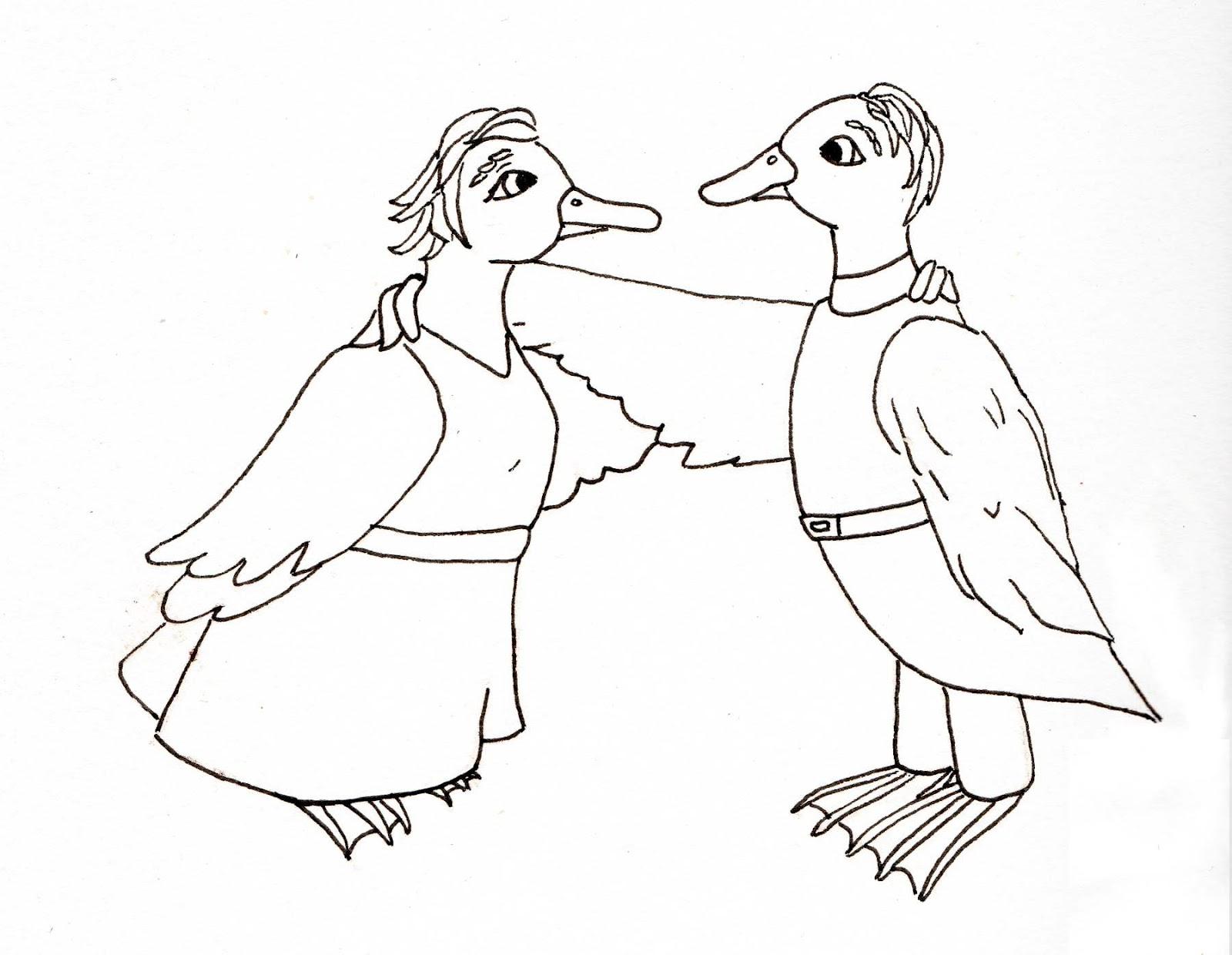 Dani Duck Artist Obscure Line Drawing The Ducks