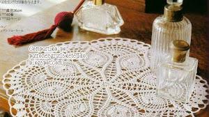 Carpeta muy delicada al crochet