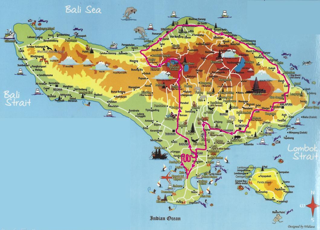 Bali Carte Touristique