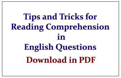 English Comprehension Pdf
