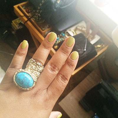 ysl arty ring, essie mani, Essie dont; talk back t me