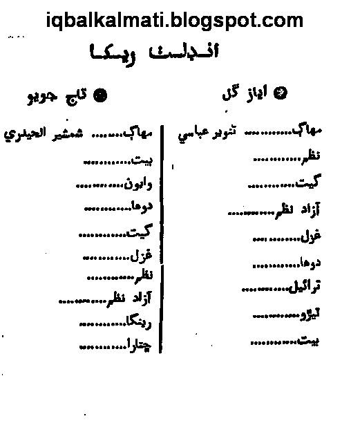 Sindhi Shayari Taj Joyo and Ayaz Gul