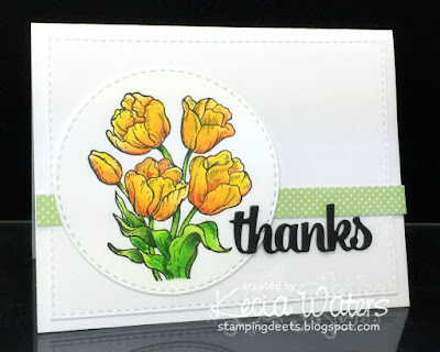 Inkadinkado, Kecia Waters, yellow flowers, thank you card