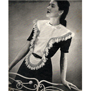 Vintage Crochet Edging Pattern for Dickey