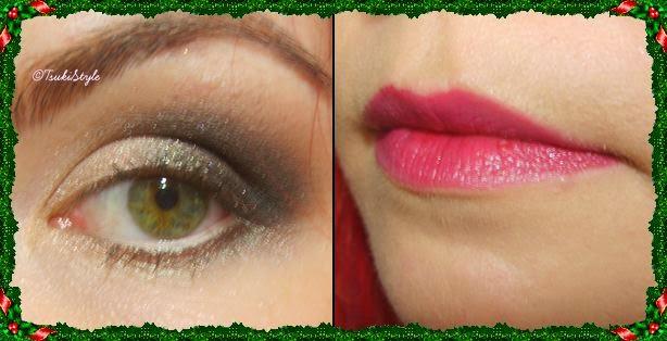 look ojos, labios, tsuki style makeup