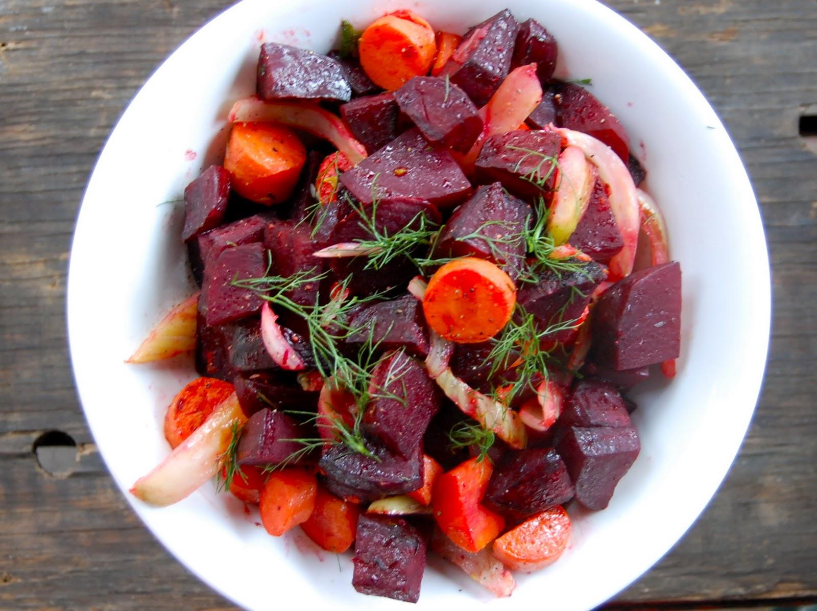 Roasted Beet Carrot And Fennel Salad Lady Gouda