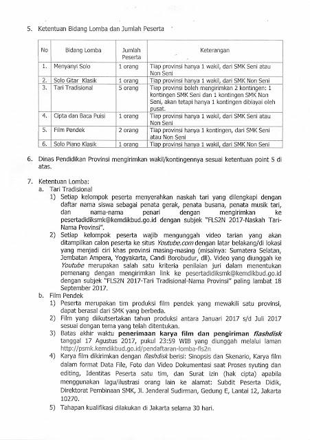 Surat Edaran FLS2N SMK 2017