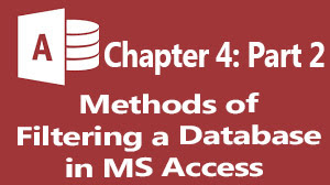 methods of filtering a database in ms access