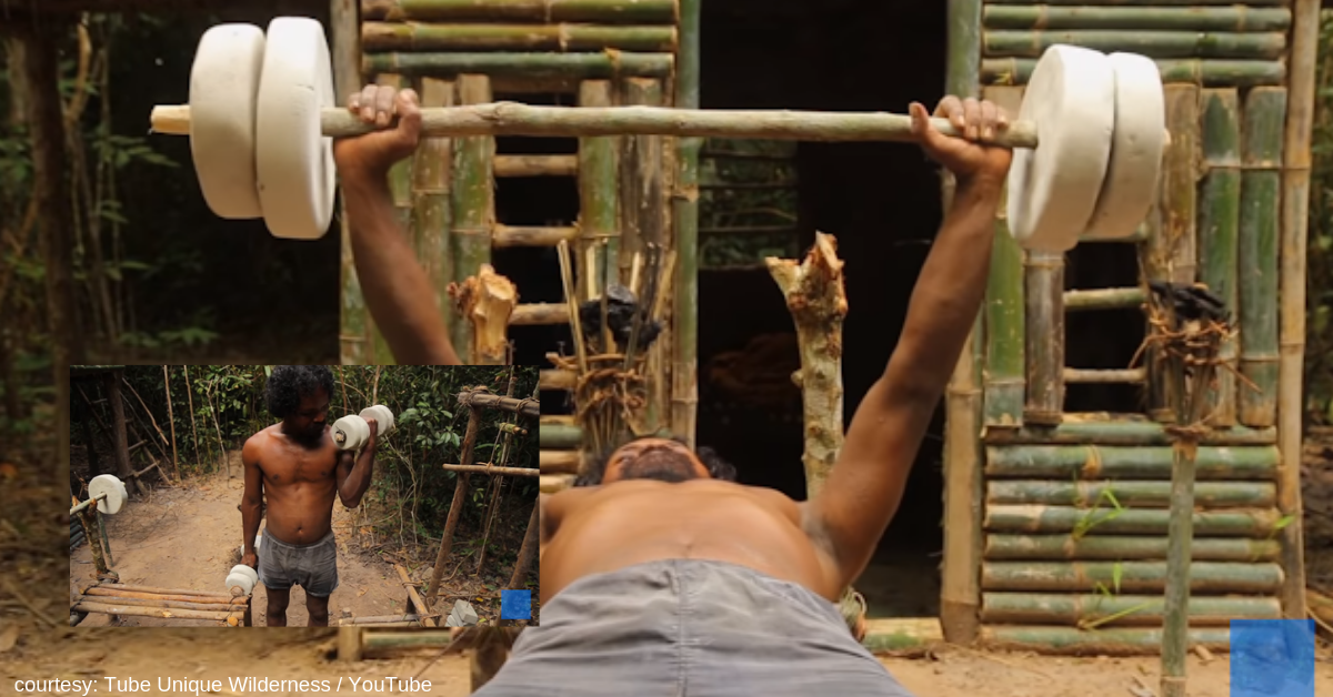 'Caveman' Creates Impressive Gym Equipment from Scratch