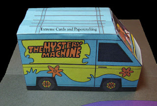 side view of pop up van