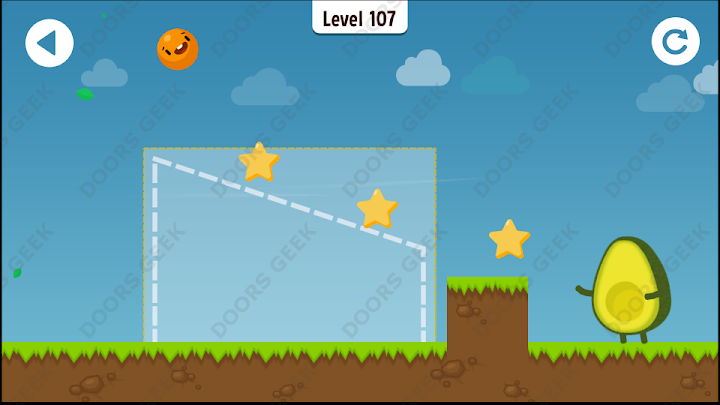 Where's My Avocado? Level 107 Solution, Cheats, Walkthrough, 3 Stars for Android, iPhone, iPad and iPod
