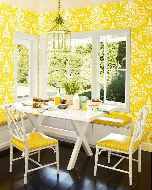 Bright Color Dining Room Furniture Ideas