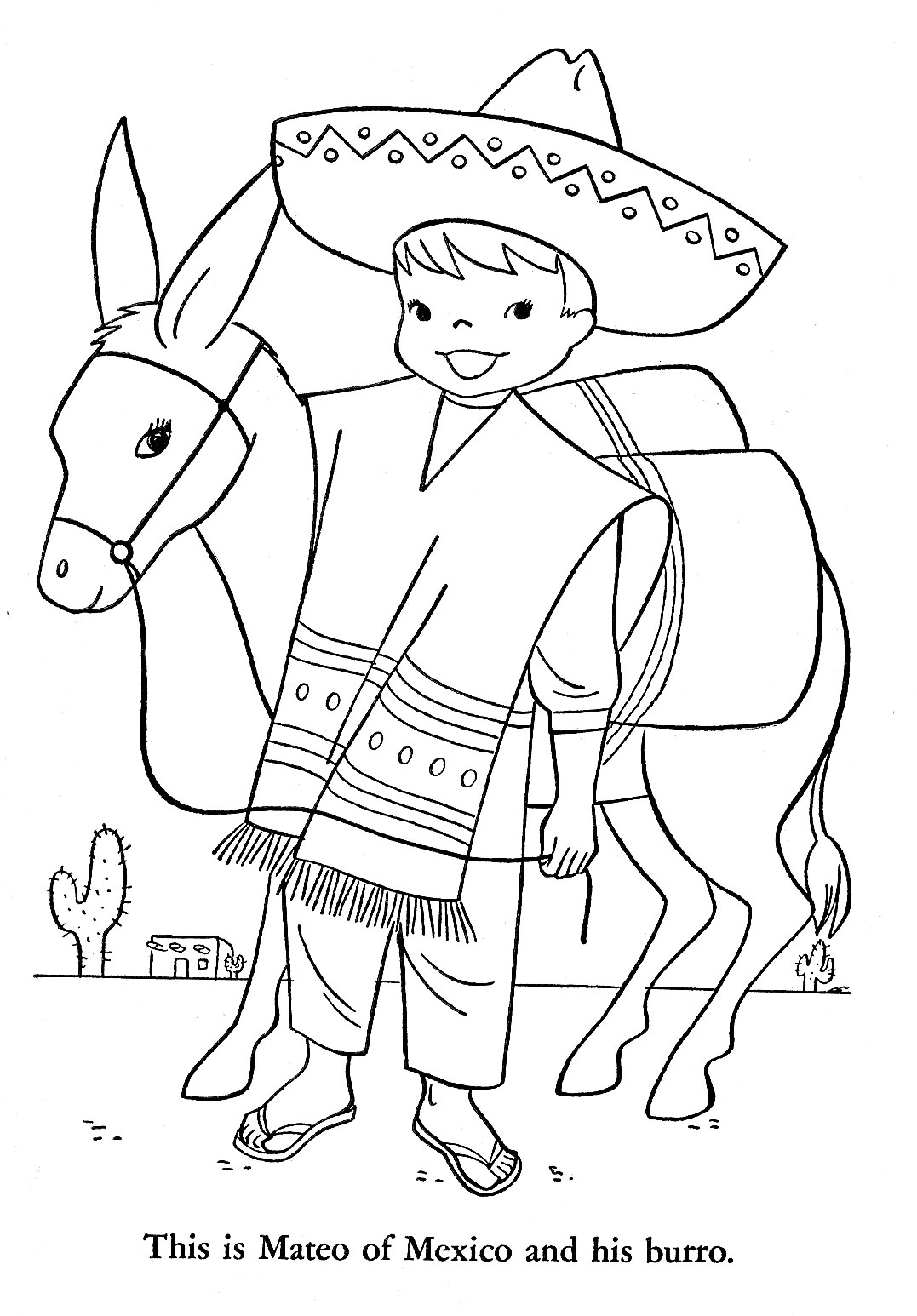 coloring pages of mexico - mexican poncho coloring coloring page coloring pages