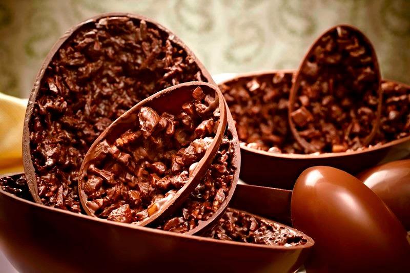 Ovos da Páscoa de chocolate