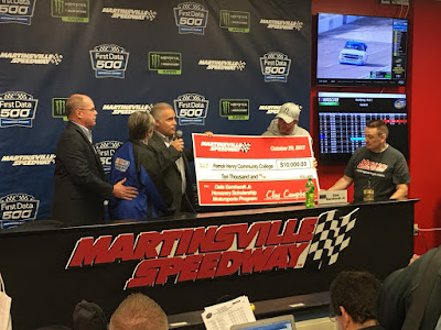 Martinsville Speedway Contributes $10,000 to Start Endowment for Dale Earnhardt Jr. Honorary Scholarship at Patrick Henry Community College