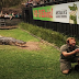 Brave Reptile Handler Proposes To Girlfriend While Feeding A Massive Crocodile