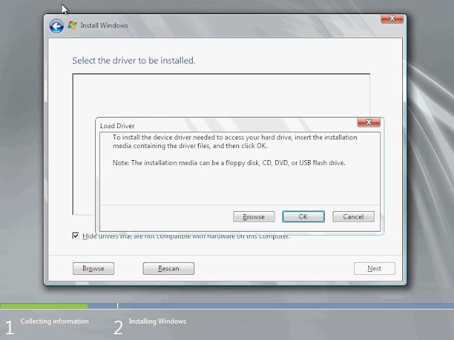 """Mengatasi Masalah """"Load Driver"""" Saat Instal Windows 7"""