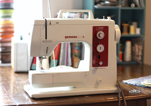 Sewing and quilting supplies featured by top US quilting blog, Diary of a Quilter: image of a Bernina Sport 801