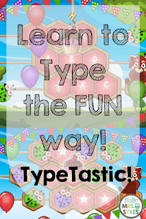 Learn to type the fun way with TypeTastic! for grades K-5! A blog post from #HelloMrsSykes and #TypeTastic