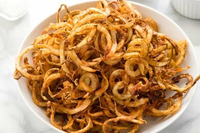 HEALTHY OIL-FREE BAKED CURLY FRIES