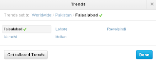 Twitter trends for Pakistan