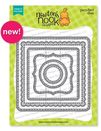 Frames Squared | Decorative Squares Die Set by Newton's Nook Designs #newtonsnook