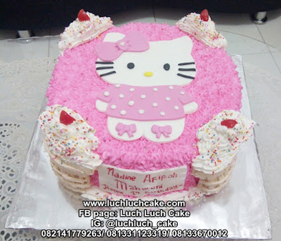Hello Kitty Kue Ulang Tahun Ice Cream