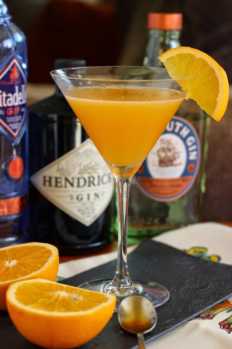 Cóctel de ginebra con naranja y miel