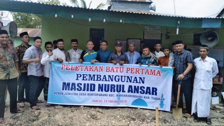 Camatku Lakukan Peletakan Batu Pertama Pembangunan Masjid Nurul Ansar
